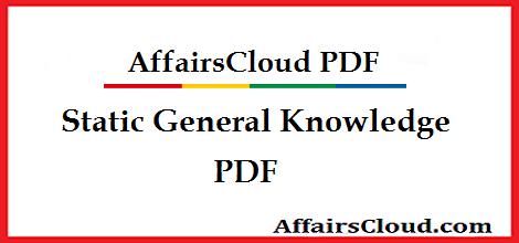 Static General Knowledge GK PDF