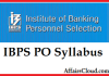 IBPS PO Syllabus 2015