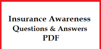 Insurance Awareness Questions & Answers PDF