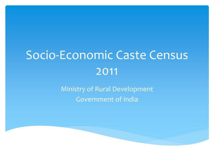 Socio-Economic Census 2011 Highlights PDF