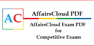 AffairsCloud Exam PDF for Competitive Exams