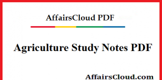 Agriculture Study Notes PDF