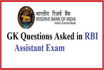 RBI Assistant Exam GA Questions