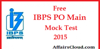 Free IBPS PO Main Mock Test 2015