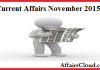 Current Affairs November 2015