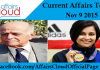 Current Affairs Today Nov 9