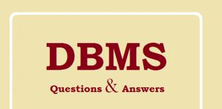 DBMS Q&A PDF