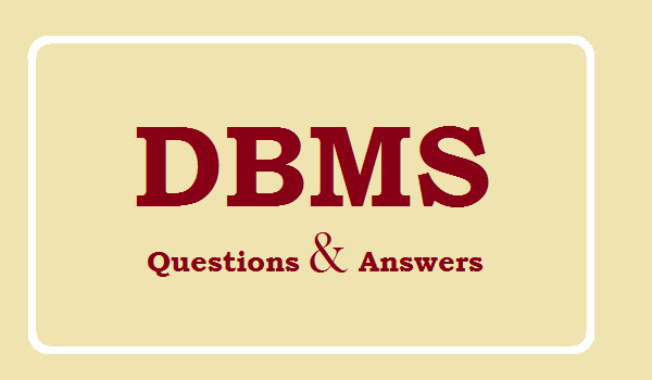 DBMS Questions
