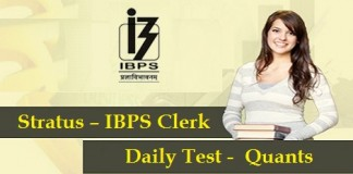 Stratus - IBPS Clerk - Daily Test - Quants