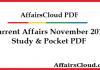Current Affairs November 2015 PDF