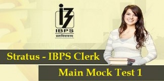 IBPS-Clerk-Main 2015-Mock-Test-1