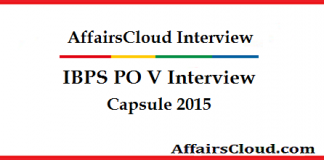IBPS PO V Interview Capsule 2015
