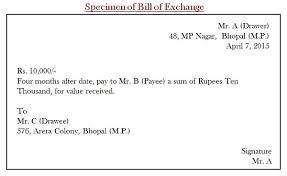 Negotiable instruments an example of bill of exchange billofexchange altavistaventures Images