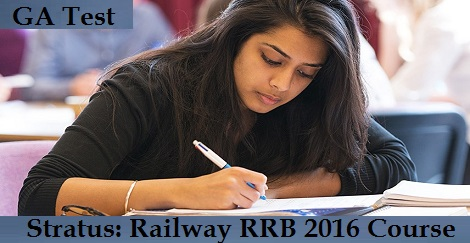 Stratus- Railway RRB 2016 Course - GA Daily Test