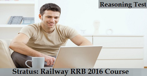 Stratus - Railway RRB 2016 Course - Reasoning Test