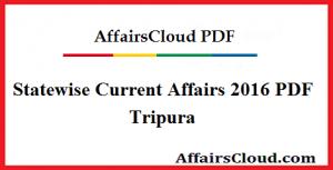 Tripura Current Affairs