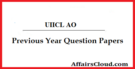 United India Insurance AO Previous Year Question Papers