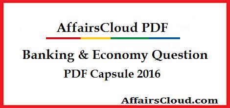Banking & Economy Question PDF 2016