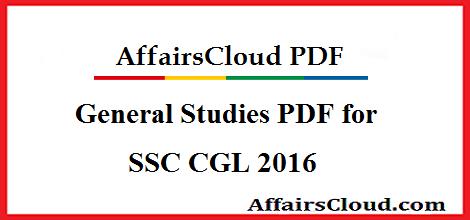 General Studies PDF for SSC CGL 2016