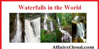 Waterfalls in the world