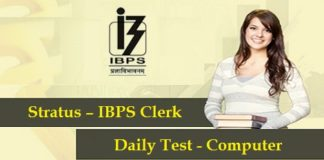 Stratus-IBPS-Clerk-Course-2016-Daily Test - Computer