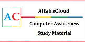 Computer Awareness Study Material
