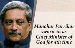 Former Defence Minister Manohar Parrikar Sworn in as Goa Chief Minister