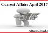 Current Affairs April 2017