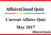 Current Affairs Quiz May 2017