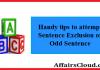 Odd Sentences Out
