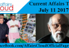 Current Affairs Today - July 11 2017