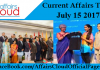 Current Affairs Today - July 15 2017