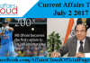Current Affairs Today - July 2 2017