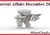 Current Affairs December 2017