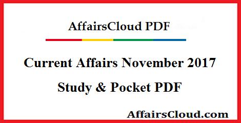 Current Affairs November 2017 PDF