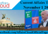 Current Affairs Today - November 1 2017