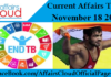 Current Affairs Today - November 18 2017