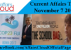 Current Affairs Today - November 7 2017