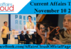 Current Affairs Today - November10 2017