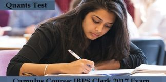 IBPS Clerk 2017 Quants Test