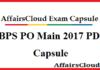 IBPS PO Main IBPS PO Main 2017 PDF2017 PDF