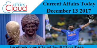 Current Affairs Today - December 13 2017