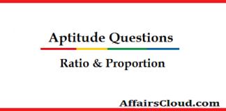 Quantitative AptitudeQuestion - Ratio & Proportion