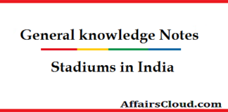 Stadiums in India-GK-Notes