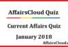 Current Affairs Quiz January 2018