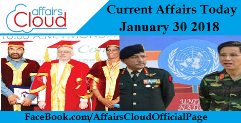 Current Affairs Today - January 30 2018
