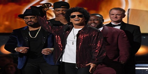 Grammys 2018 - Bruno Mars' '24k Magic' Wins Album Of The Year