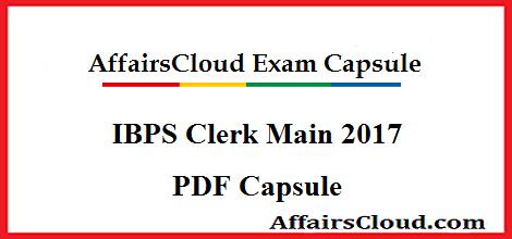 IBPS Clerk Main 2017 PDF
