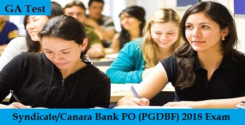 Syndicate-Canara Bank PO (PGDBF) 2018 Exam - GA Test