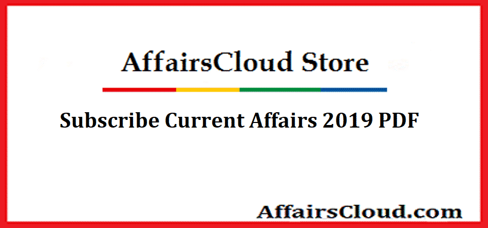 Current Affairs 2019 - AffairsCloud Store